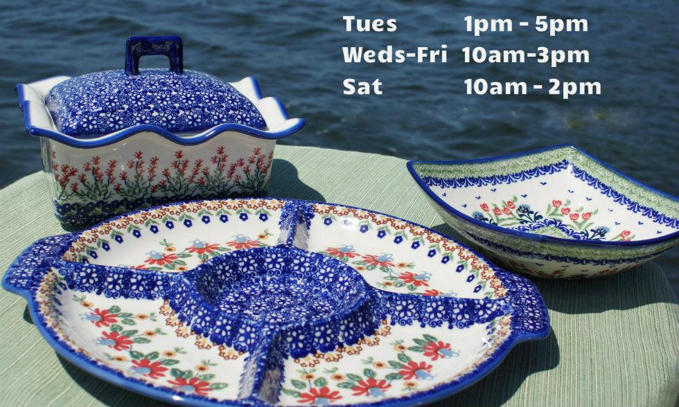 Currently on Sale!! & Polish Pottery | Unikat Polish Pottery | Polish Dinnerware - Blue ...